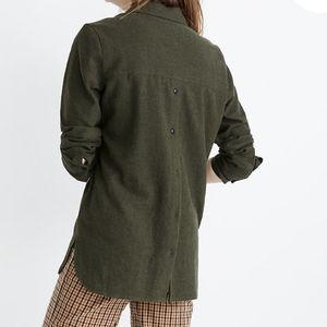Madewell Flannel Ex-Boyfriend Button-Back Shirt